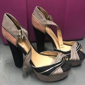 👑 Used Lauren Conrad disco diva platform heels